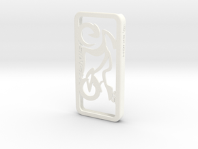 iPhone Case Sportbike Minimal Design Singh15 in White Strong & Flexible Polished