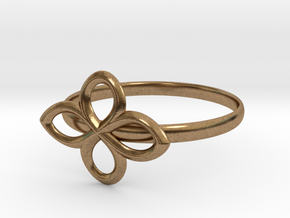 Flower Ring in Natural Brass