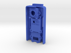 mounting base for Mobius Camera and FPV 520TVL Cam in Blue Processed Versatile Plastic