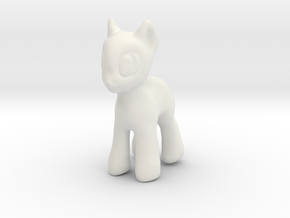 Your Diminutive Equine in White Natural Versatile Plastic