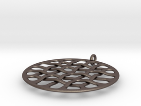 Woven 16 H in Polished Bronzed Silver Steel