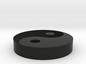 Yin Yang Pendant in Black Strong & Flexible