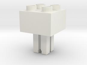 Fischertechnik to Duplo uck 01f00m in White Natural Versatile Plastic