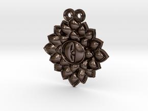 Dragon eye pendant in Polished Bronze Steel