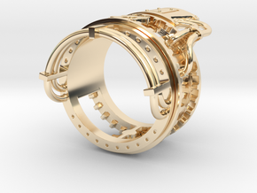 Steampower Ring V3 in 14K Yellow Gold