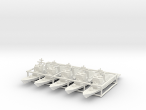 Arleigh Burke class destroyer x5 1/3500 in White Natural Versatile Plastic