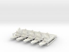 Arleigh Burke class destroyer x5 (Axis & Allies) in White Natural Versatile Plastic