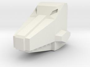 Headbiter Croc Head in White Strong & Flexible