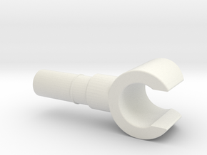 Minifig Hand in White Natural Versatile Plastic