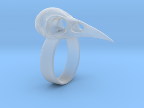 Realistic Raven Skull Ring - Size 7 in Smooth Fine Detail Plastic