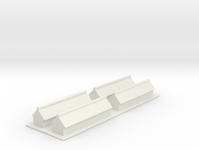 1/700 Missile Construction Buildings (x4) in White Strong & Flexible