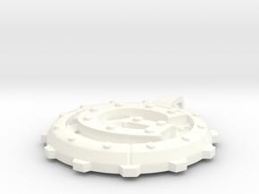 """Steampunk Monogram Pendant """"G"""" in White Processed Versatile Plastic"""