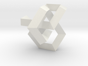 Balancing Act I (Small) in White Natural Versatile Plastic