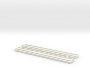 1/700 80mm Length Rail Track in White Strong & Flexible