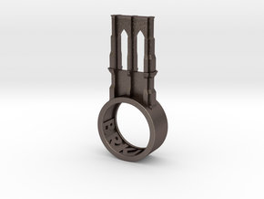Brooklyn Ring  in Polished Bronzed Silver Steel