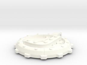 """Steampunk Monogram Pendant """"J"""" in White Processed Versatile Plastic"""