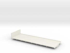 1:43 AEC 8Wheel Flatbed Body  in White Natural Versatile Plastic