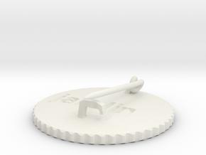 by kelecrea, engraved: jarolin in White Natural Versatile Plastic
