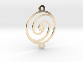 Spiral Pendant in 14K Yellow Gold