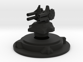 Miniature artillery turret medium in Black Strong & Flexible