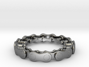 RS CHAIN RING SIZE 6 in Fine Detail Polished Silver
