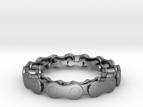 RS CHAIN RING SIZE 8 in Fine Detail Polished Silver