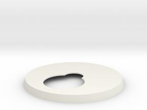 1/18 Five-Foot MF Top & Bottom Turret platform in White Natural Versatile Plastic: Medium