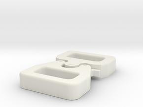 Dredd Clasp   v2 Fury in White Natural Versatile Plastic