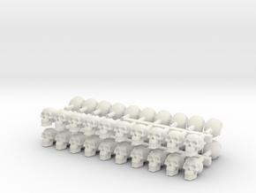 40 skulls high res  in White Natural Versatile Plastic
