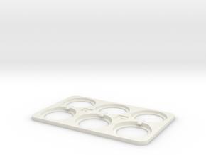 QuarterCard in White Natural Versatile Plastic
