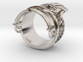 Steampower ring v2 in Platinum