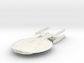 Archer Class Battleship in White Strong & Flexible