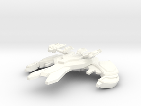 Jem Hadar T'lex Class Destroyer in White Strong & Flexible Polished