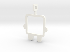 made with love - small robot in White Processed Versatile Plastic