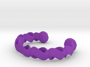 infinity chain bangle in Purple Processed Versatile Plastic