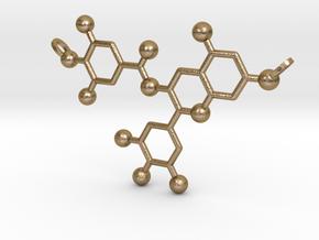 Green Tea Molecule in Polished Gold Steel