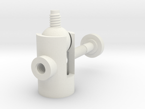 Ball Swivel Mount in White Natural Versatile Plastic