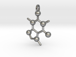 Coffee Molecule in Natural Silver