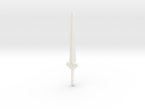 Sword of the first born V2 (without gem) in White Strong & Flexible Polished