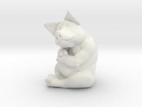 Piggy 3 Inches Tall in White Natural Versatile Plastic
