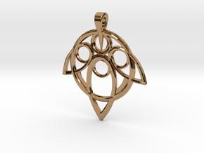 Yuna Summoner Pendant  in Polished Brass