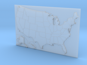USA Map 180mm in Smooth Fine Detail Plastic