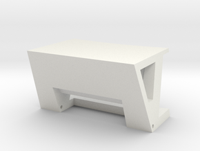 FrontClampBody in White Natural Versatile Plastic
