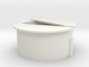 Wisseldeksel in 3D in White Natural Versatile Plastic