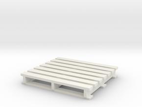 Pallet coaster in White Natural Versatile Plastic