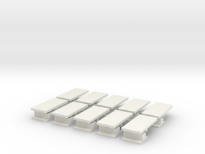 iPad Mini Abacus Case Plugs 10x in White Natural Versatile Plastic