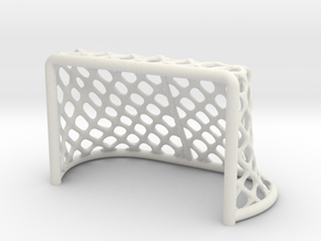 Hockey Net 6 inch in White Natural Versatile Plastic