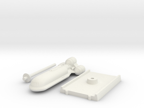 Senate Starship - With base in White Natural Versatile Plastic