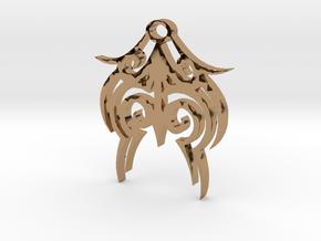 Tytrian WhiteHawk Trial Necklace 3 in Polished Brass