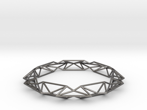 Queen of Diamonds L (80mm) in Polished Nickel Steel